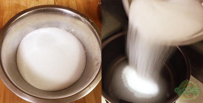グラニュー糖投入
