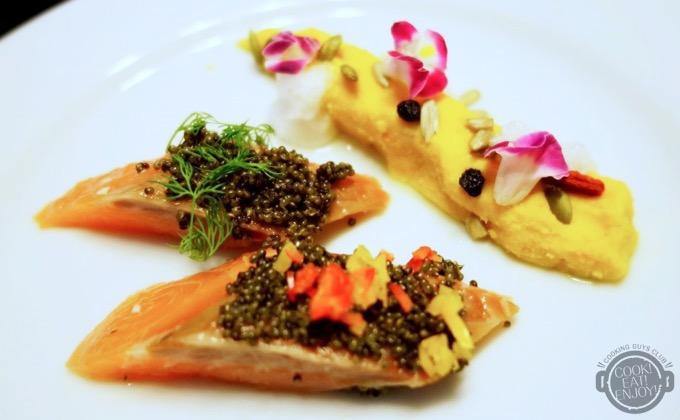 秋鮭の極上レアコンフィ収穫祭仕立て