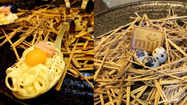 卵がメインの冷製カルボナーラ