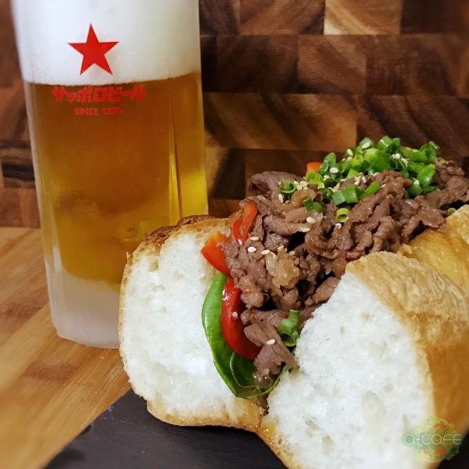 サンドイッチとサッポロビール