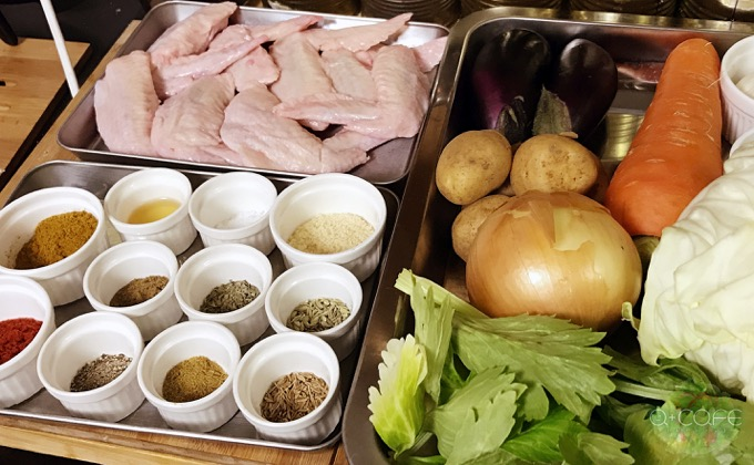 スープカレー材料